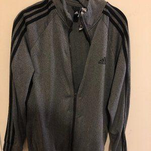 Gray Adidas Track Jacket